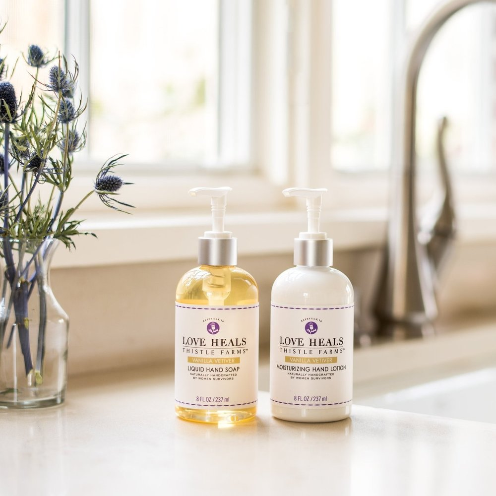 Natural hand soap and hand lotion, 8 oz each - $30
