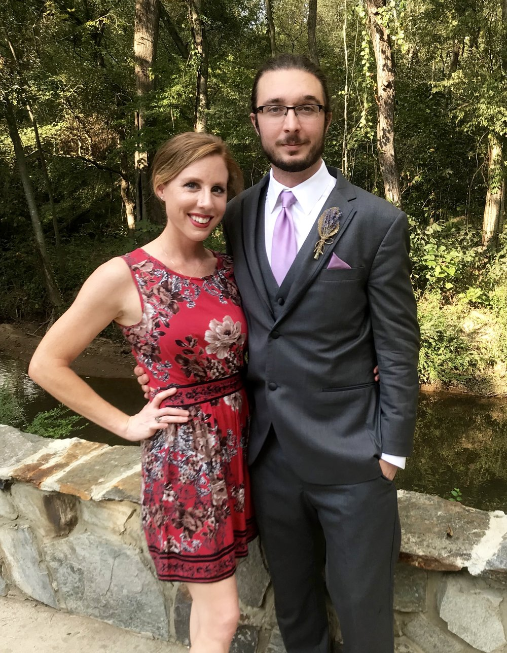 One more wedding pic from Saturday bc I love this dress and this man <3