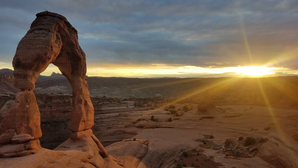 Delicate Arch at sunset : March 23, 2019