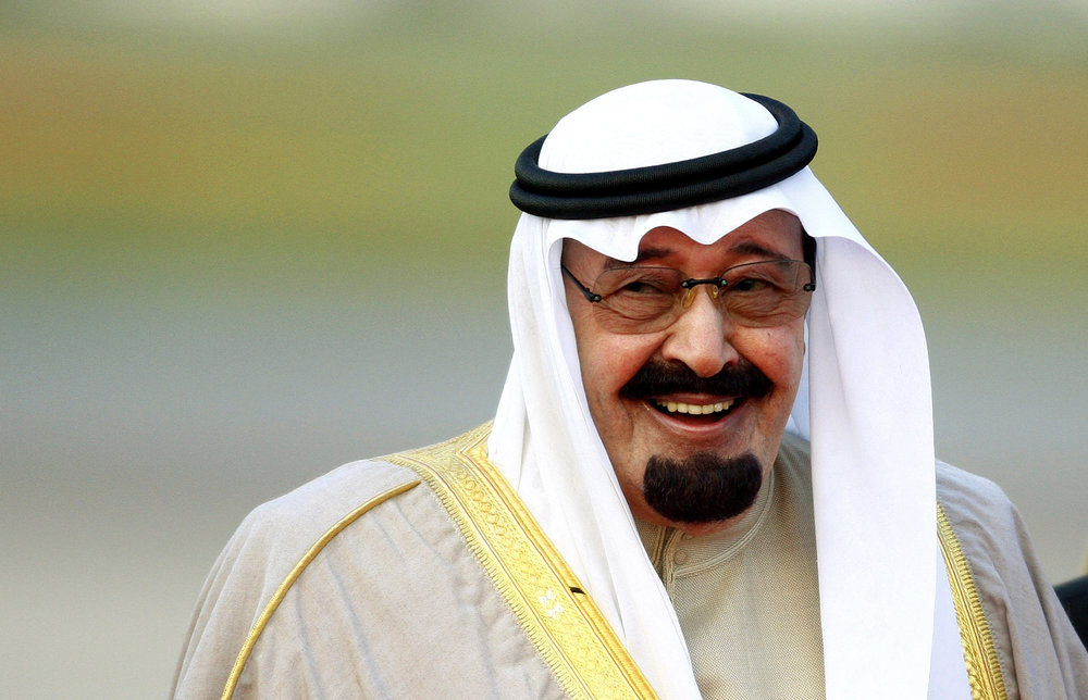 King Abdullah of Saudi Arabia. Photographed by Dylan Martinez — Reuters