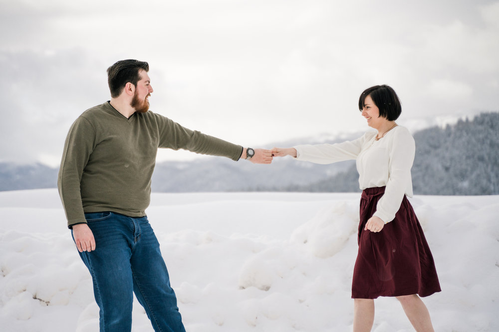 Paige and Joey Palisades Engagement Session Christine Madeux Photography Rexburg Idaho Photographer