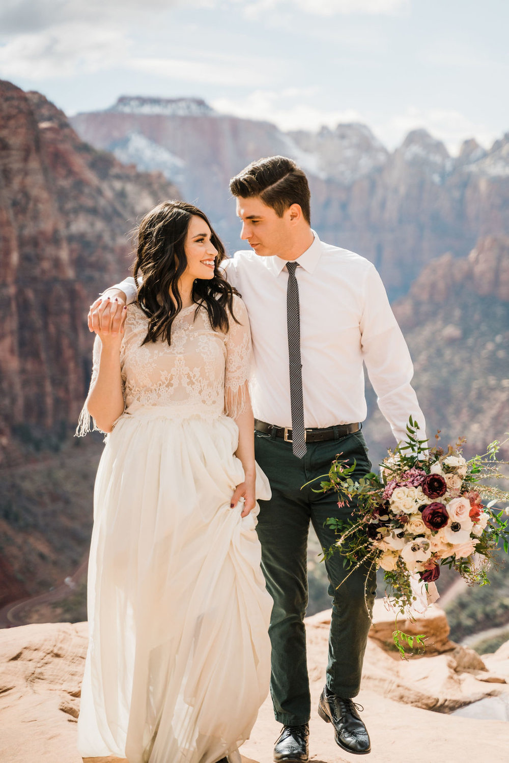 Dasya + Shiloh Zion National Park Bridal Shoot Christine Maduex Photography