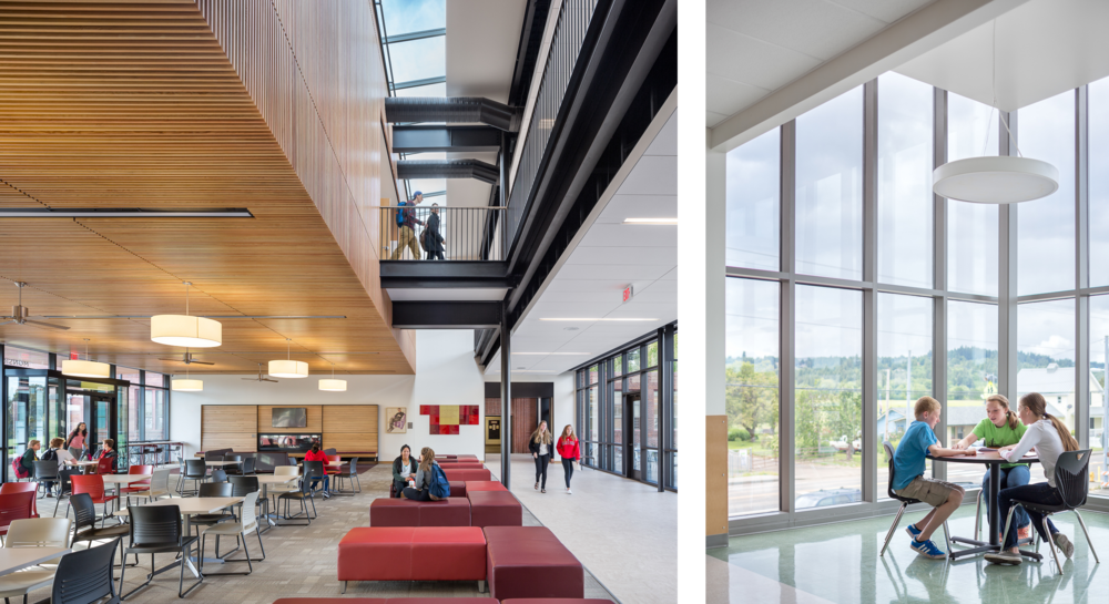 Left: Central Catholic High School / Bora Architects Right: Banks Middle School / DLR Group