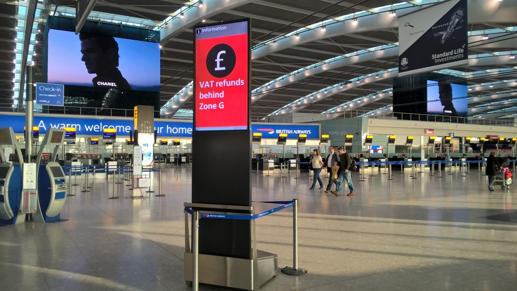 Heathrow mobile display solutions