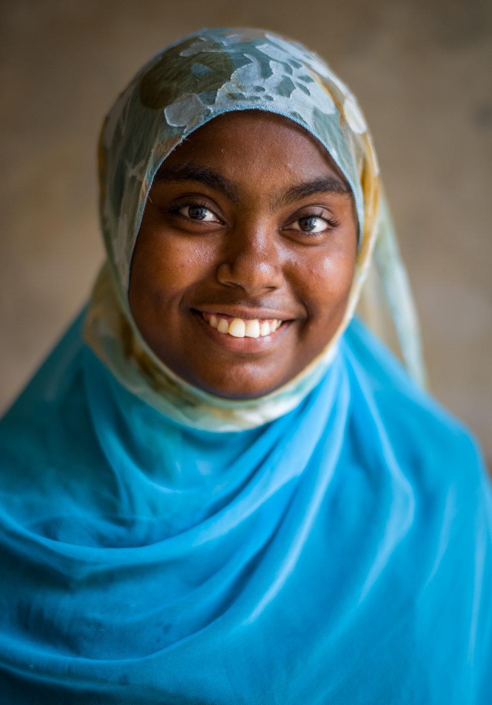 Asya Baskuty, a young Muslim woman, in Lamu, Kenya