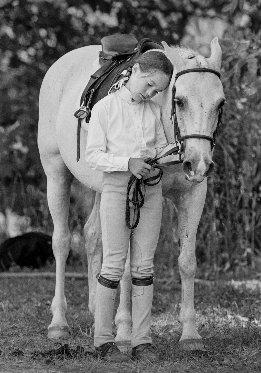 Katie Kirsch and her pony Adam Ant after failing to qualify in the pony hunter event at the Cleveland Hunter Jumper Classic in Moreland Hills, Ohio