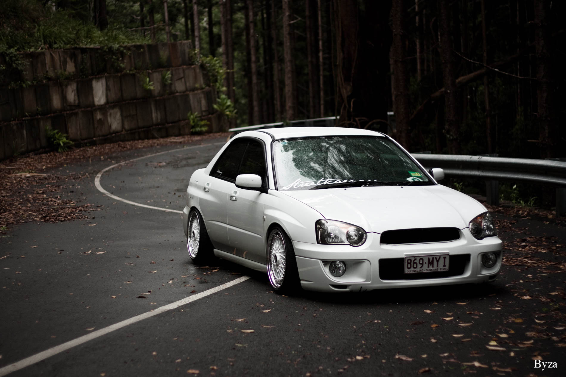 Alex's Albino Subie Fitted Fresh On BBS (2)