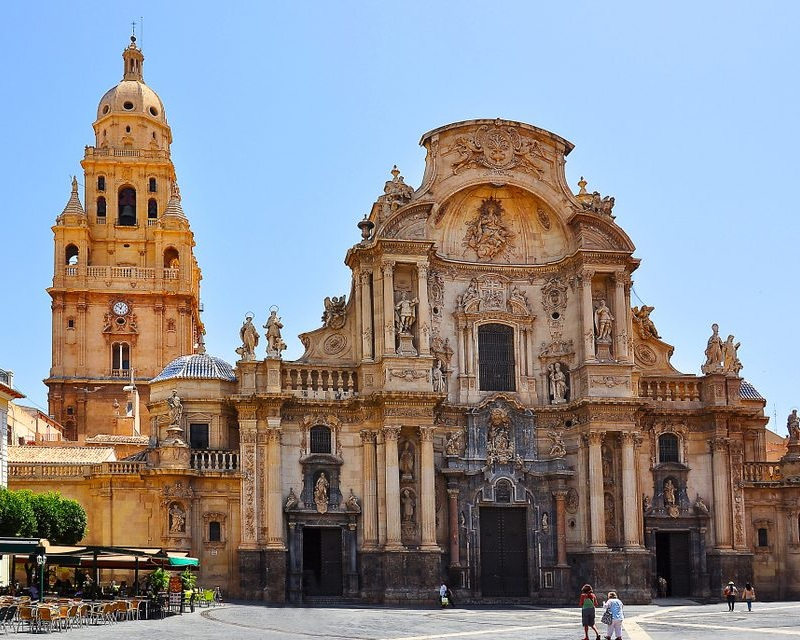 1). Catedral de Murcia - The Cathedral Church of Saint Mary in Murcia, commonly referred to as the Cathedral of Murcia, was constructed in 1465 and has the architectural style of Gothic, Renaissance & Baroque.Location - Murcia city centre.