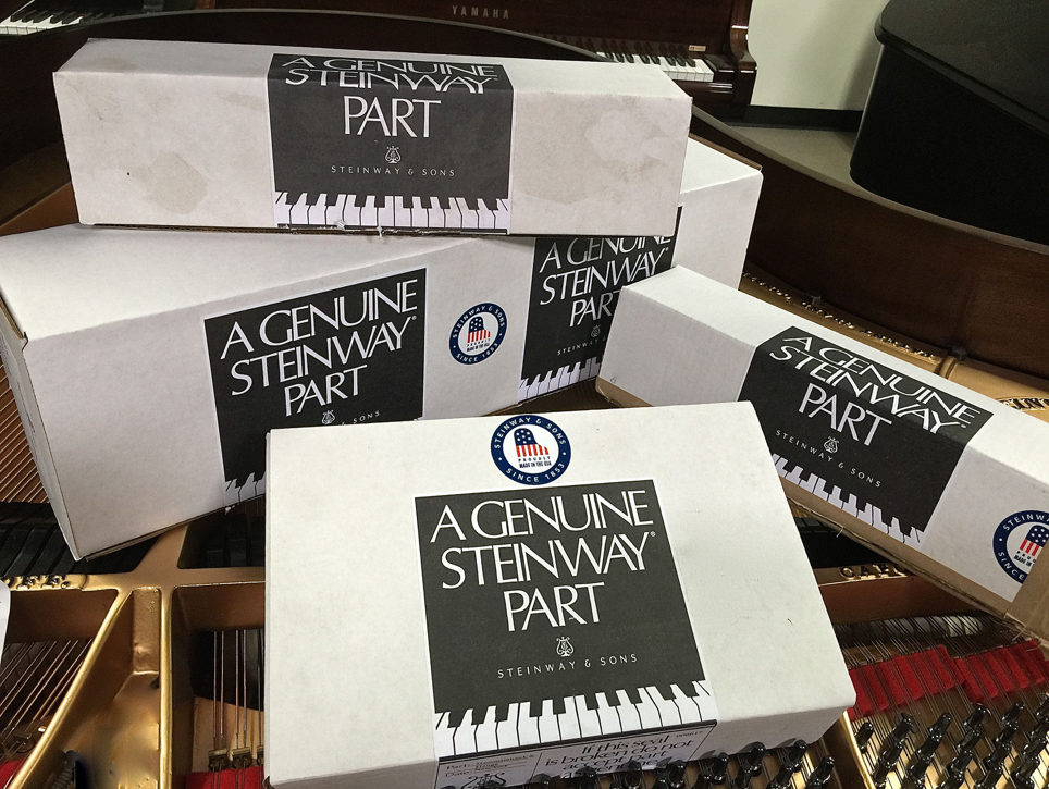 We use genuine Steinway and Yamaha parts.