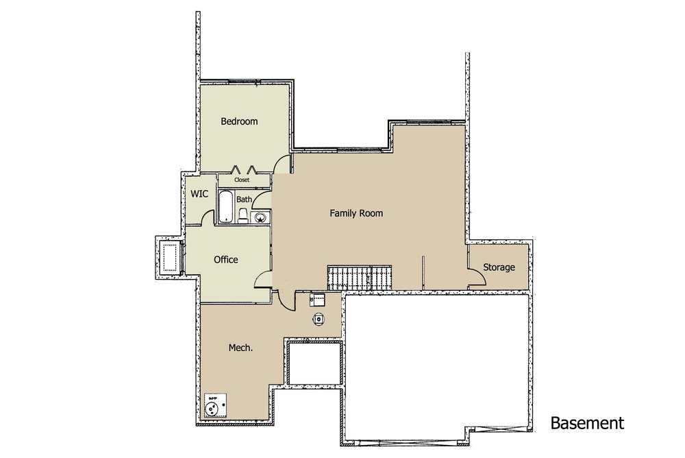 Hannah II Plan BSMT by Moeder Construction