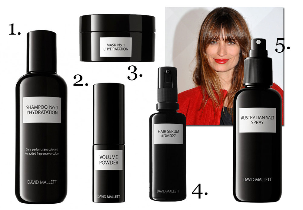 CLICK TO BUY:   David Mallet Shampoo No 1 L'Hydration, $59 ; David Mallet Volume Powder, $52;   David Mallet Masque No 1 L'Hydration, $99 ; David Mallet Hair Serum, $79;   David Mallet Australia Salt Spray, $54