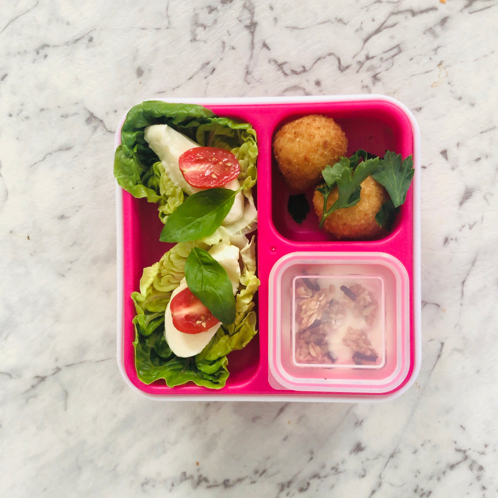 PRESENTATION IS EVERYTHING - Build it and they will come.Lunch has got to look pretty, cool or fun. Preferably all.Bento Boxes have made the job much easier with their origami like compartments that hold pre-portioned items and minimise waste.At the beginning of the year I buy each of my girls a new Bento - this is my current favourite from Cool Gear. I also recommend Hot Topic Bentology Bento Box which has six compartments.A cool container makes pimping produce much easier and keeps portions under control.