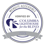 This website is accessible and verified by Columbia Lighthouse for the Blind in 2019