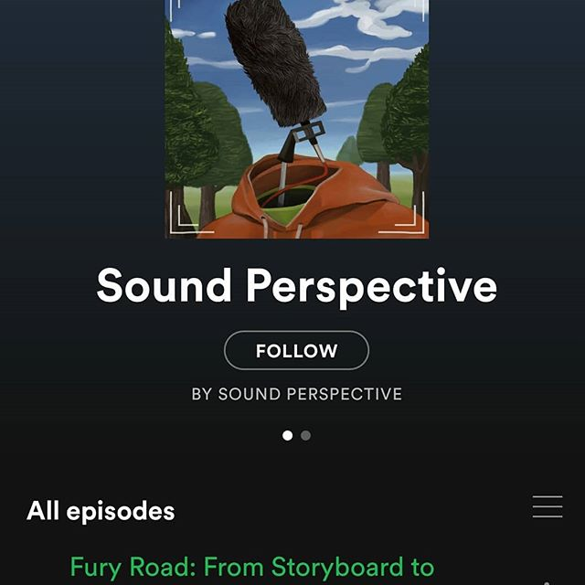 Sound Perspective is now available on Spotify and Apple podcasts! Episode 1 available now with episode 2 coming tomorrow  https://itunes.apple.com/au/podcast/sound-perspective/id1447040386  #sound #sounddesign #madmax #spotify  #podcast #filmmaking #locationsound #soundproduction #soundmixing #audio #filmpodcast #audiopodcast