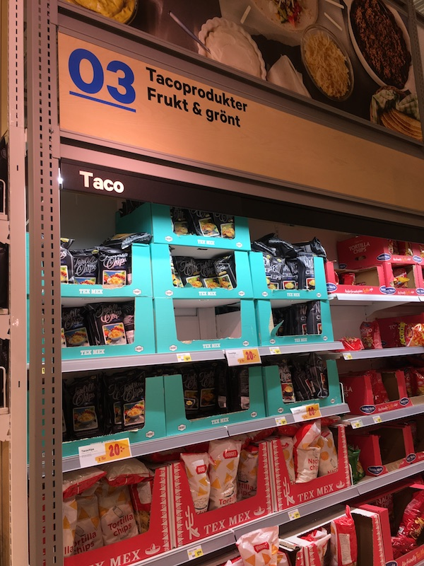A whole aisle dedicated to taco ingredients!