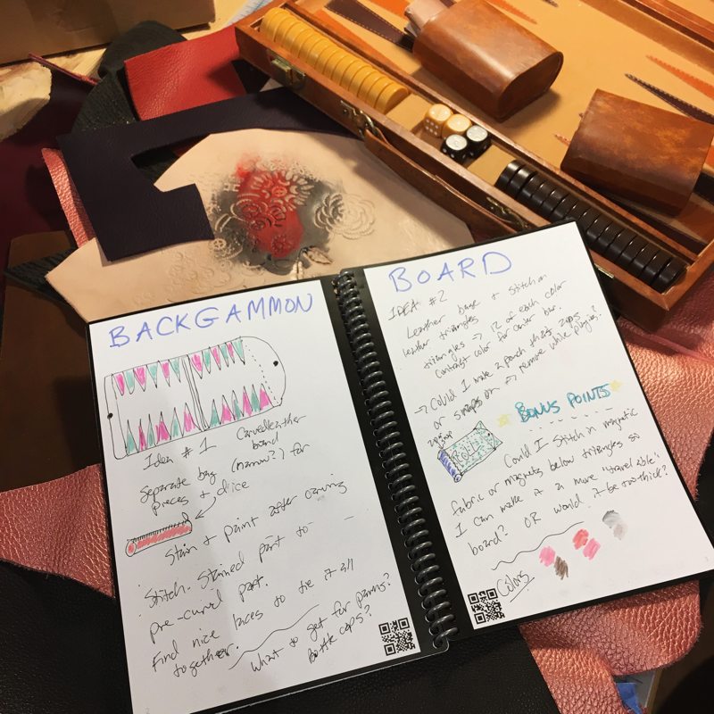 Backgammon project notebook sketches