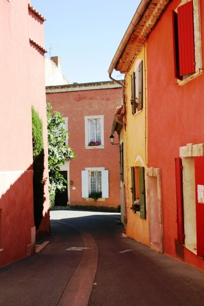 A village street in Roussillon