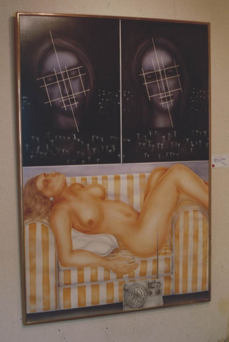 Madonna Dreams   1981 enamel on marine wood (sold in 1981 current whereabouts unknown)