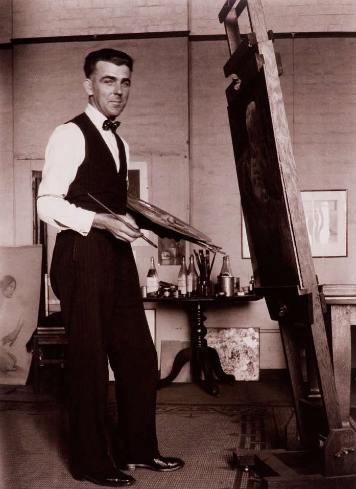 Photographer unknown Dobell in his London studio (circa 1929) Dobell House collection