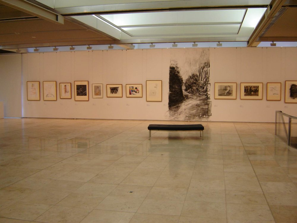 Installation view (Wall drawing by Jane Lander)