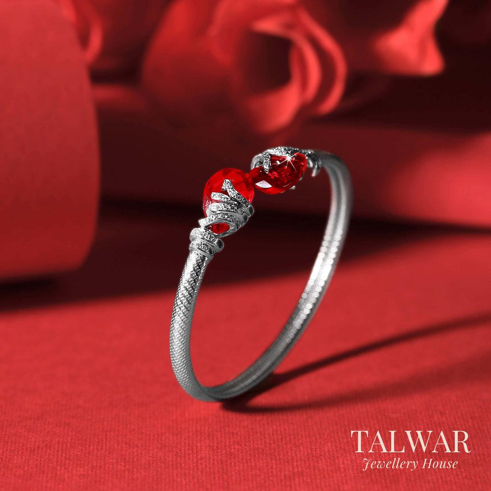 Red Stone Twist Bracelet