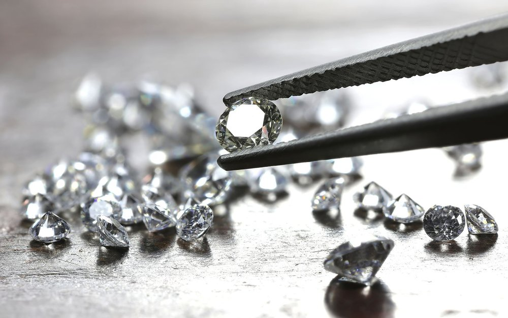 TJH Diamond Tweezers