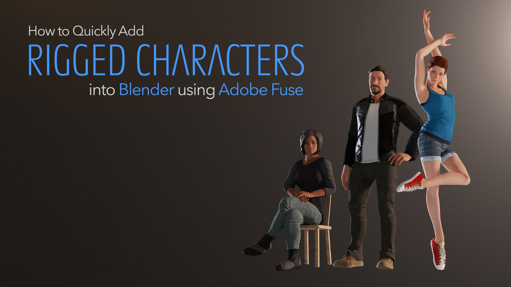 For this workflow I use the free Adobe Fuse tool, as well as automatic-rigging app Mixamo. I will also show you how to use Fuse assets, apply textures, change skinning and more…