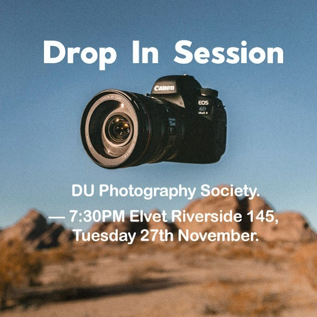 "Our last November event is happening tomorrow evening at ER145! Bring your cameras along and any photography/film related questions you may have for our ""Drop In Session"" for an informal evening with us! 🌟 For more information, head to our Facebook page for more information! We can't wait to see you there!"