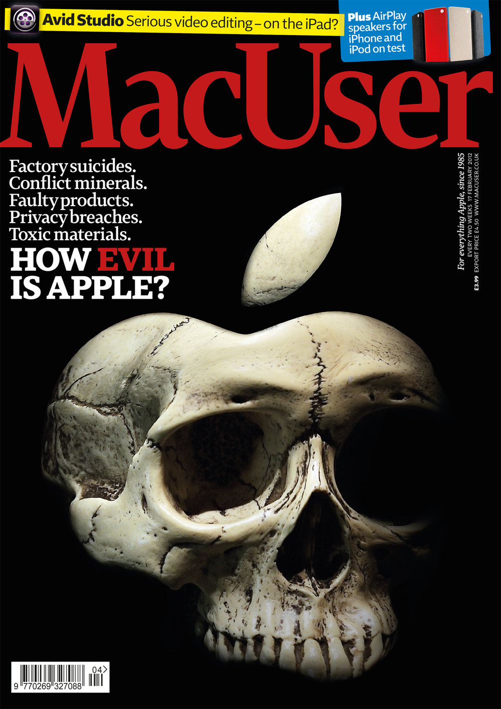 Photo montage for MacUser cover 'How Evil is Apple?' (finalist, PPA cover of the Century)
