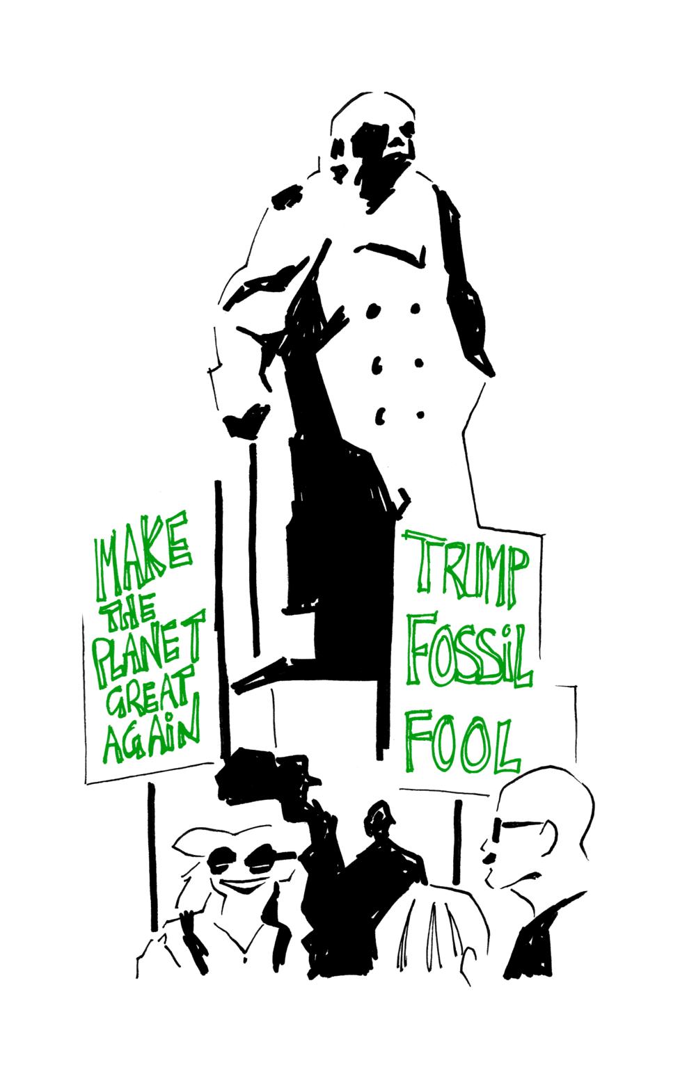 Anti-Trump march reportage (2/3)