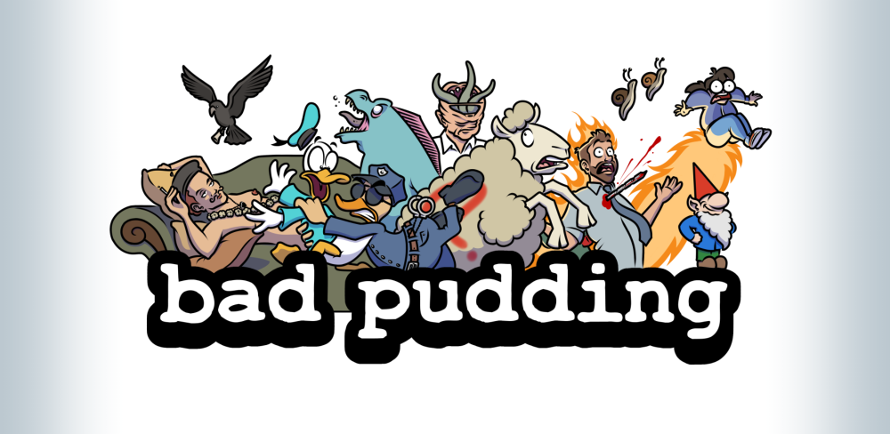 Bad Pudding splash graphic