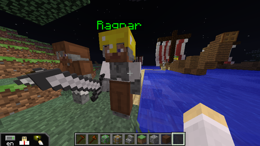 Ragnar will tell you when it is time to get on the longship.