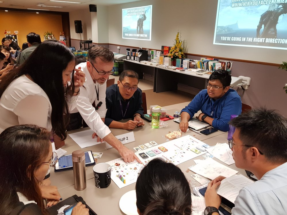I had the opportunity to present several game-based learning ideas to the Edgefield staff. This group is learning to play Tokaido.
