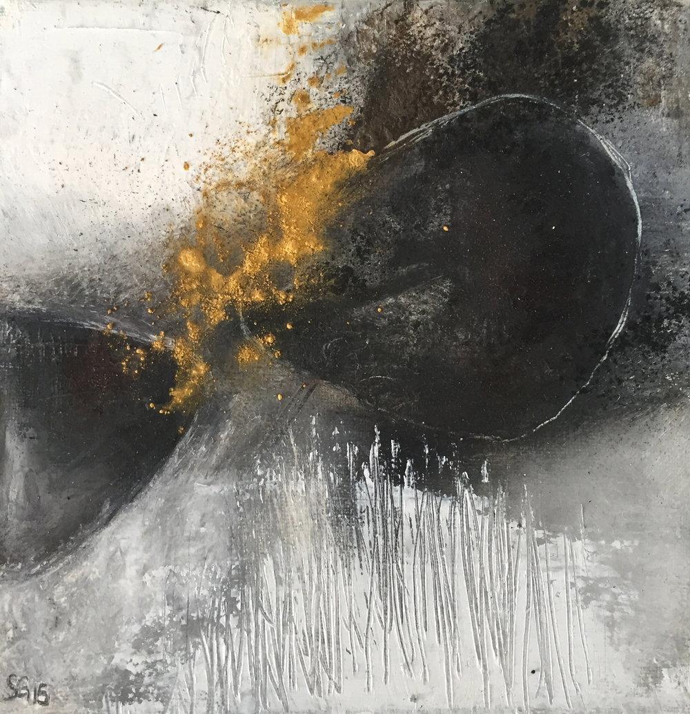 Huile sur toile, pigments - 25X25