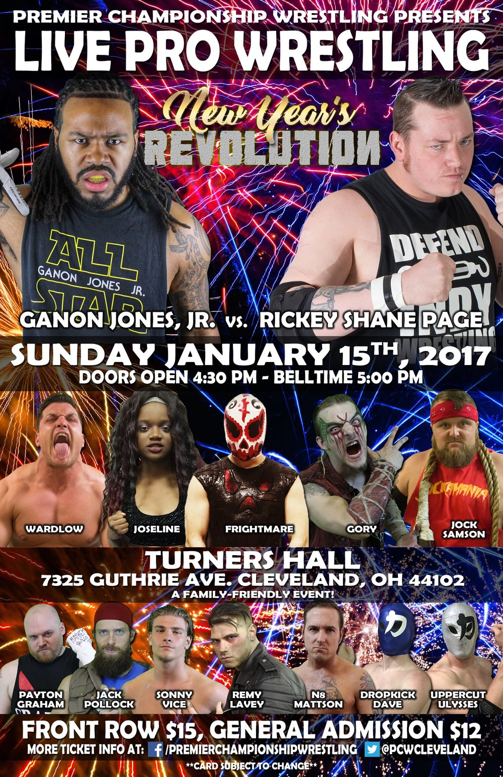 Premier Championship Wrestling - New Year's Revolution 2017