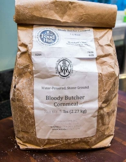 Look for Bloody Butcher cornmeal in specialty stores.