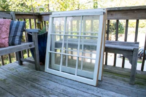 Cast-off windows make great cold frame lids.