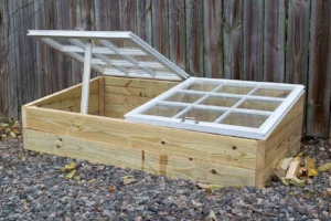 Our finished cold frame project.