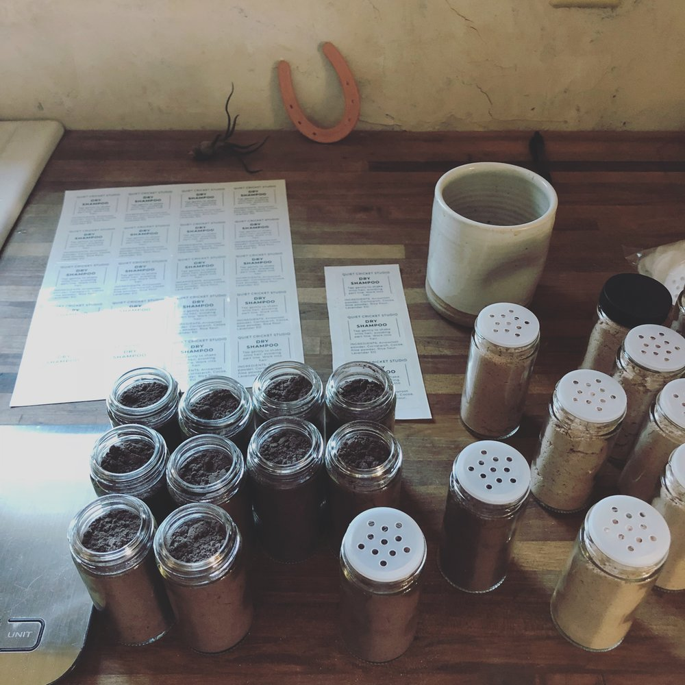 Dry Shampoo in the Making by Quiet Cricket Studio