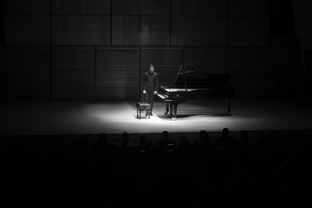 Composer Julian De La Chica opened the concert, performing works of his piano cycle Op. 5 Photo by Eugene Manning