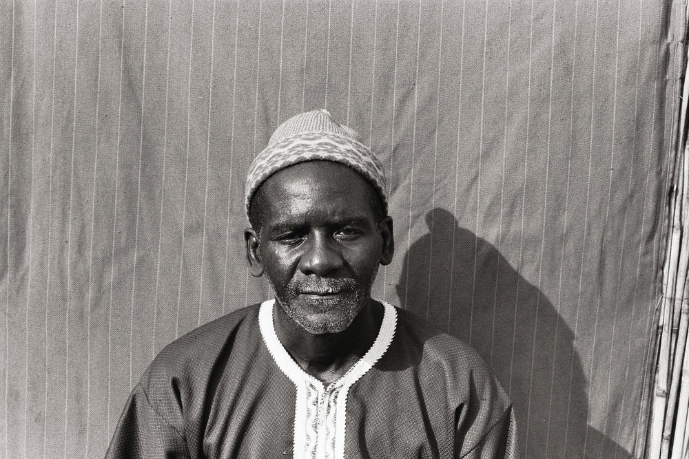 Host father and the village chief, Modou