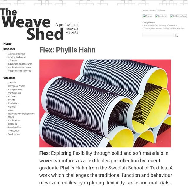 Head over to ➡️ http://www.theweaveshed.org/2583/flex-phyllis-hahn/#more-2583 ⬅️ if you are interested in reading about my degreework ⭐ . . #theweaveshed #iwroteaboutmyselfeinthirdperson