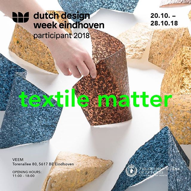 ⭐〰️Come and chat with us and have a look at our work! 〰️⭐ . #dutchdesignweek2018 #textiledesign #degreework #theswedishschooloftextiles