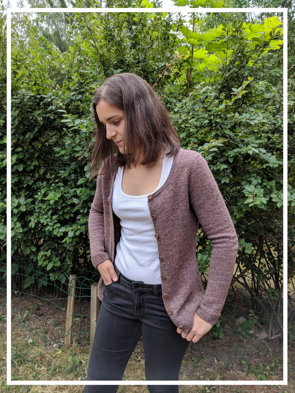 Me totally failing on how to be a model. Wearing cardigan   Plum twist  by Anna Johanna.