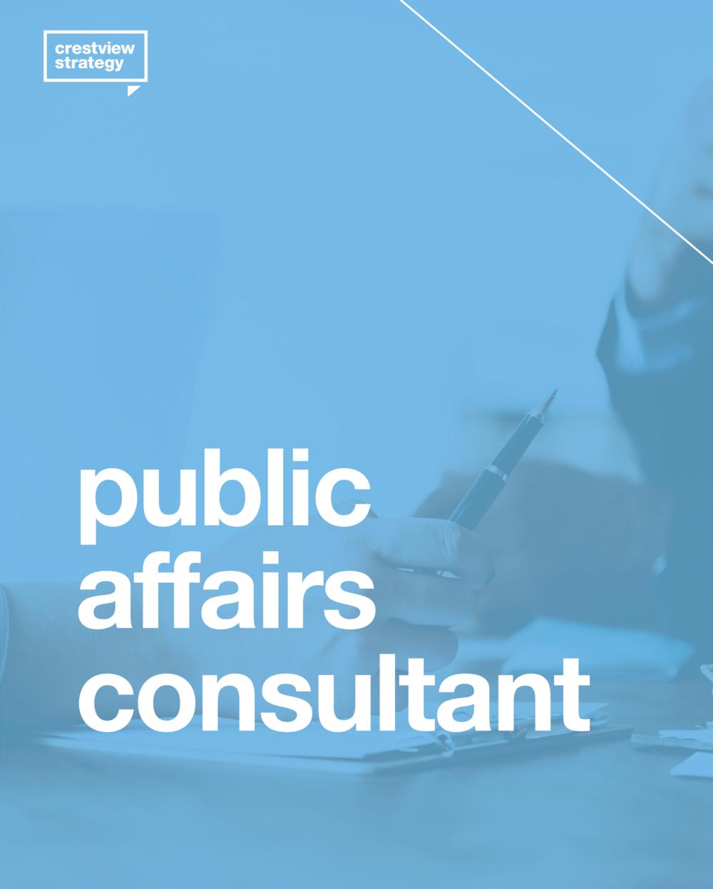 Public Affairs Consultant Toronto