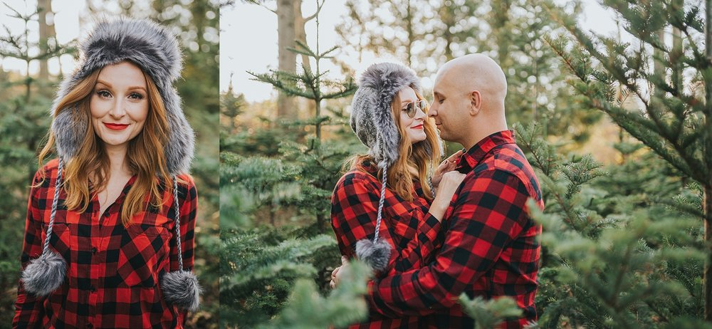 Vancouver christmas tree farm photoshoot