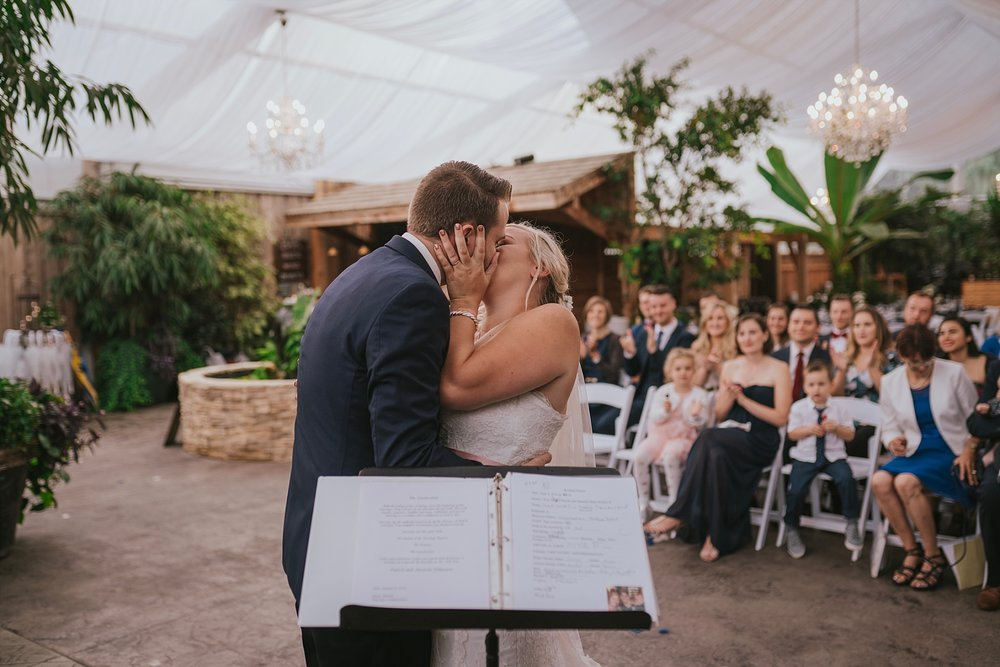 greenhouse abbotsford wedding ceremony