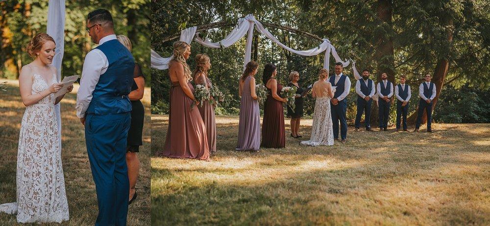 backyard fabric alter ceremony