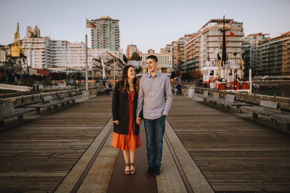 lonsdale quay market engagement shoot