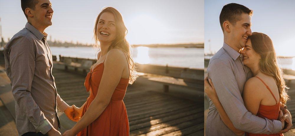 vancouver engagement summer sunset photos